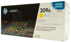 HP Q2672A № 309A картридж лазерный оригинальный желтый, 4000 страниц для принтер hp color laserjet 3500, 3550, 3700