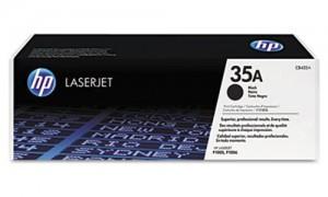 HP CB435A № 35A картридж лазерный оригинальный черный, 1500 страниц для принтер hp laserjet p1005, p1006