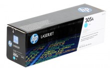 HP CE411A № 305A картридж лазерный оригинальный голубой, 2600 страниц  для HP LaserJet PRO 300 Color M351, PRO 400 Color M451, MFP M475