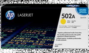 HP Q6472A № 502A картридж лазерный оригинальный желтый, 4000 страниц принтер hp color cp3505, cp3600, cp3800