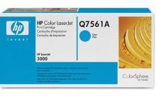 HP Q7561A № 314A картридж лазерный оригинальный голубой, 3500 страниц для принтер hp color laserjet 2700, 3000