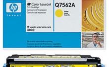 HP Q7562A № 314A картридж лазерный оригинальный желтый, 3500 страниц для принтер hp color laserjet 2700, 3000