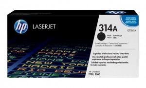HP Q7560A № 314A картридж лазерный оригинальный черный, 6500 страниц для принтер hp color laserjet 2700, 3000