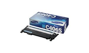 картридж Samsung CLT-C406S Cyan для Samsung CLP 360 / 365 / 368 / CLX 3300 / 3305 / Xpress C410W / C460
