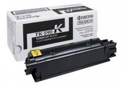 Kyocera TK-590K картридж лазерный оригинальный черный, 7000 страниц для Kyocera ECOSYS FS-C2026, FS-C2026MFP, FS-C2126, FS-C2126MFP. FS-C2526. FS-C2526MFP, FS-C2626, FS-C2626MFP, FS-C5250, FS-C5250DN, M6026, M6026CDN, M6026CIDN, M6526CDN, M6526CIDN, P6026, P6026CDN