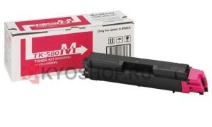 Kyocera TK-580M картридж лазерный оригинальный пурпурный, 2800 страниц для Kyocera ECOSYS FS-C5150, FS-C5150DN, P6021, P6021CDN