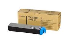 Kyocera TK-520C картридж лазерный оригинальный голубой, 4000 страниц для принтер kyocera fs-c5015, fs-c5015n