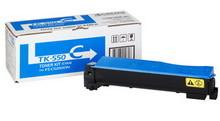Kyocera TK-550C картридж лазерный оригинальный голубой, 6000 страниц для принтер kyocera fs-c5200, fs-c5200dn