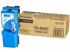Картридж лазерный оригинальный голубой, 7000 страниц Kyocera TK-820C для мфу kyocera km-c8100, km-c8100dn