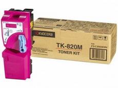 Картридж лазерный оригинальный пурпурный, 7000 страниц Kyocera TK-820M для мфу kyocera km-c8100, km-c8100dn