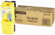 Картридж лазерный оригинальный желтый, 7000 страниц Kyocera TK-820Y для мфу kyocera km-c8100, km-c8100dn
