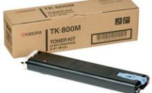 Картридж лазерный оригинальный, пурпурный, 10000 страниц Kyocera TK-800M для принтер kyocera fs-c8008, fs-c8008n