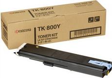 Картридж лазерный оригинальный желтый, 10000 страниц Kyocera TK-800Y для принтер kyocera fs-c8008, fs-c8008n